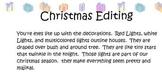 12 days of Christmas editing