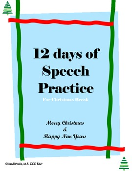 12 days of Speech Practice - Language (Full Version)