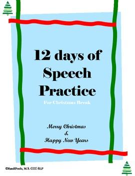12 days of Speech Practice - Language (Full Version)