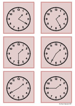 Time - 12 games - each game progress in 5 minute intervals for one hour
