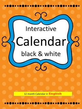 12-month Interactive Calendar