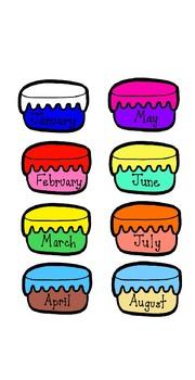 12 month birthday cake chart