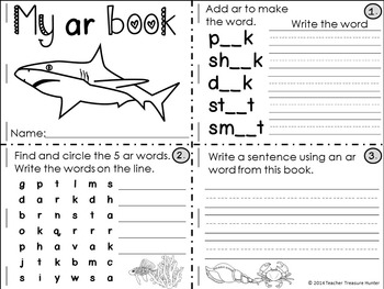 Phonics & Articulation Artic sh & ar word game, mini-books + more!