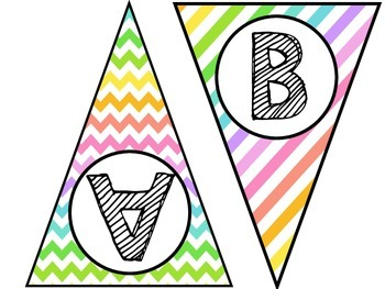 Pastel Word Wall Pennants