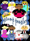 12 plump people//clip art//png format