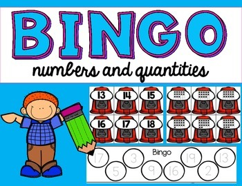 Interactive Bingo- Numbers and Quantities in tens frames