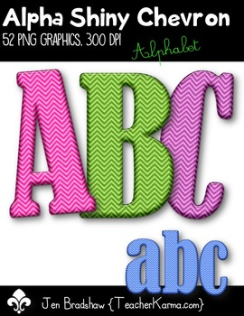Alpha Shiny Chevron Clip Art ~ Alphabet Graphics