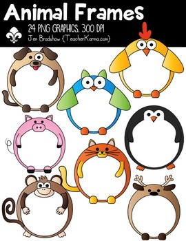 Animal Frames Clipart ~ Commercial Use OK
