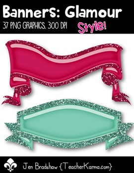 Banners {Glamour Style} Clip Art ~ Commercial Use OK