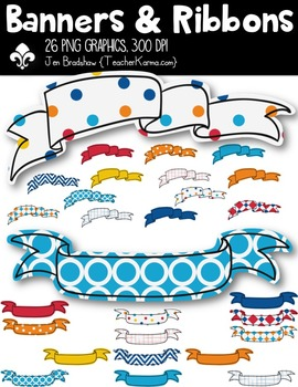 Banners & Ribbons Clipart ~ Commercial Use OK