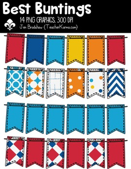 Best Buntings Clipart ~ Commercial Use OK ~ Banners