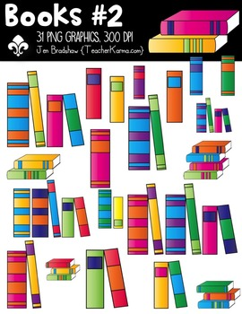 Books #2 Clipart ~ Commercial Use OK ~ Reading
