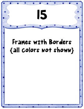 Borders with Blank Frames Clip Art ~ Polka Dots ~ CU OK