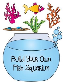 Build a Fish Aquarium Clipart ~ Commercial Use OK ~ Tank