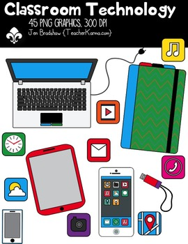 Classroom Technology Clipart ~ Commercial Use OK