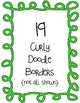 Curly Doodle Borders Clipart ~ Commercial Use