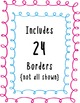 Doodle Loop Borders Clipart ~ Commercial Use OK