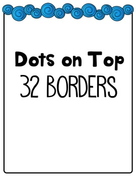 Dots on Top Borders Clip Art ~ 32  ~ CU OK