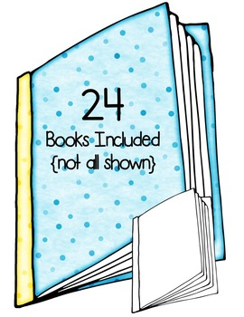 Dotty Dots Books Clip Art ~ Polka Dots ~ CU OK ~ Reading