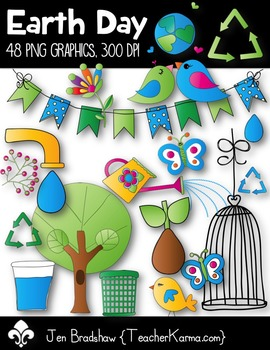 Earth Day Clip Art ~ Commercial Use Graphics ~ Spring