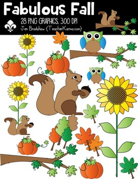 Fabulous Fall Clipart ~ Owls ~ Commercial Use OK