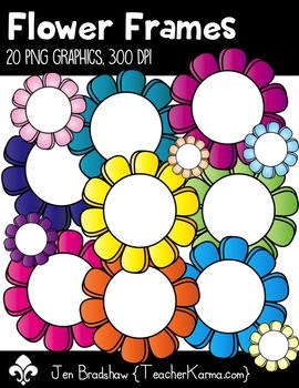 Flower Frames Clip Art ~ Commercial Use OK ~ Borders