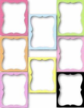 Funky Frames & Borders #1 Clip Art ~ 8.5 x 11