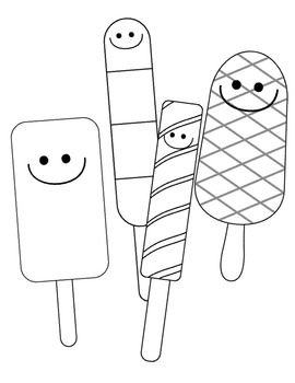 Happy Popsicles Clip Art ~ Commercial OK ~ Smiley Face