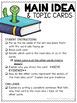 Main Idea Kit #2 ~ Main Idea & Topic Cards ~ Comprehension