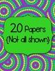 Modern Brights Digital Papers Clip Art