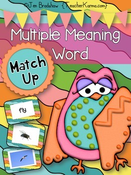 Vocabulary Multiple Meaning Words Center ~ GAME ~ RTI Reading