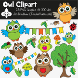 Owl Clipart ~ Commercial Use OK ~ Woodland Animals
