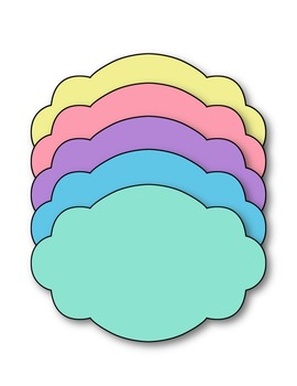 Pastel Power Papers Clip Art ~ CU OK ~ 8.5 x 11