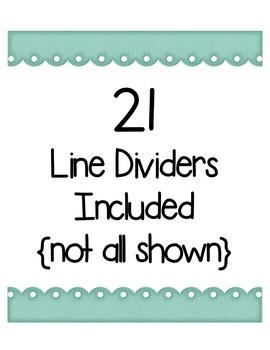 Preppy Line Dividers Clip Art ~ CU OK ~ 8.5 x 11
