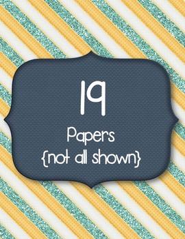 Preppy Papers Clip Art ~ CU OK ~ 8.5 x 11 ~ Stripes