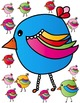 Rainbow Birds Clip Art ~ EASTER & SPRING FUN! ~ Commercial Use OK