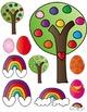 Rainbow Birds Clip Art ~ EASTER & SPRING FUN! ~ Commercial Use OK