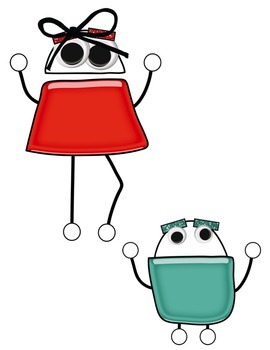 Shiny Robot Friends Clip Art ~ Commercial OK ~ Monsters