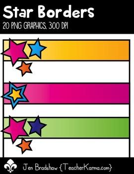 STAR Borders Clip Art ~ Commercial Use OK ~ Frames