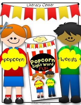 Sight Word Center:  Popcorn Words ~ High Frequency ~ Fluency