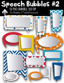 Speech Bubbles #2 Clipart ~ Commercial Use OK