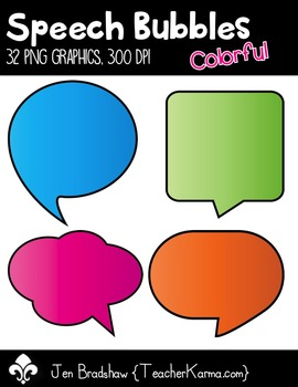 Speech Bubbles * Colorful * Clip Art ~ Commercial Use OK