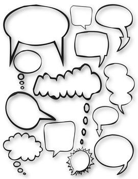 Speech Bubbles Kit Clip Art ~ 37 graphics ~ CU OK ~ Frames