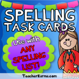 Spelling Task Cards ~ ANY Spelling List ~ Literacy Center