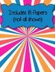 Sunburst Papers #1 Clip Art ~ CU OK ~ 8.5 x 11
