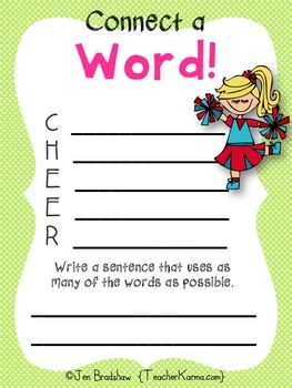 Vocabulary Center to Improve Reading Comprehension * Acrostic Poems