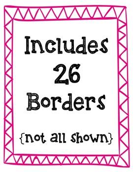 Zig Zag Borders Clipart ~ Commercial Use OK
