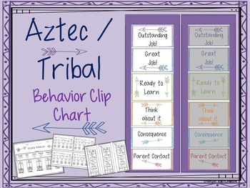 Aztec / Tribal Behavior Clip Chart