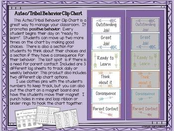 Aztec / Tribal Behavior Clip Chart
