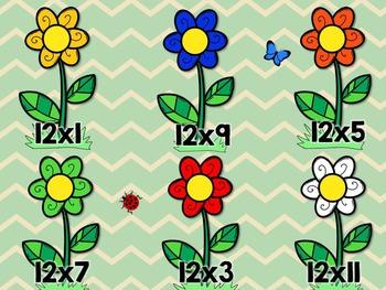 12's Multiplication File Folder Game- Flower Garden